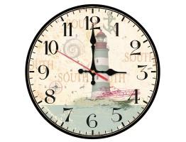 Wooden Light House Quartz Wall Clock