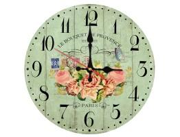 Wooden Floral Quartz Wall Clock
