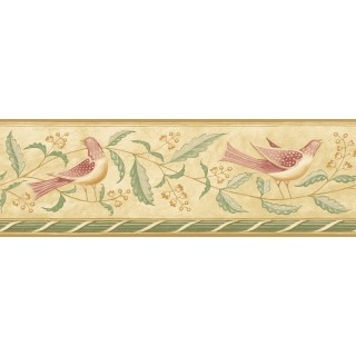 6 7/8 in x 15 ft Prepasted Wallpaper Borders - Diane Ulmer Perdersen Wall Paper Border 250B69210