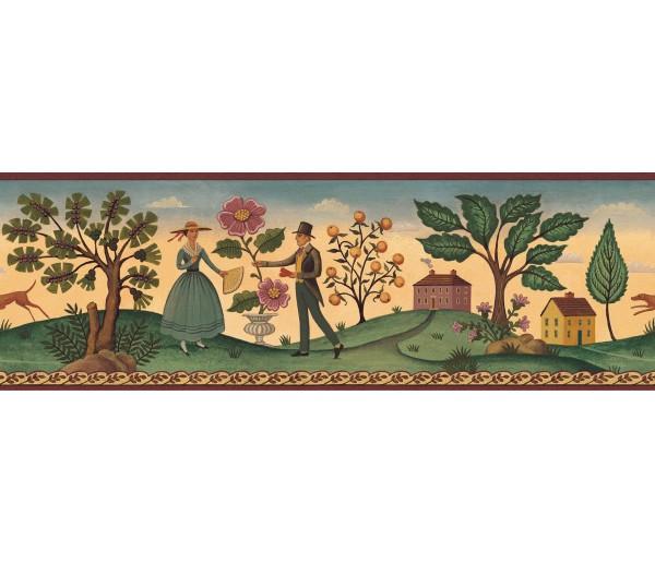 Country Wallpaper Borders: Diane Ulmer Perdersen Wallpaper Border 250B69232