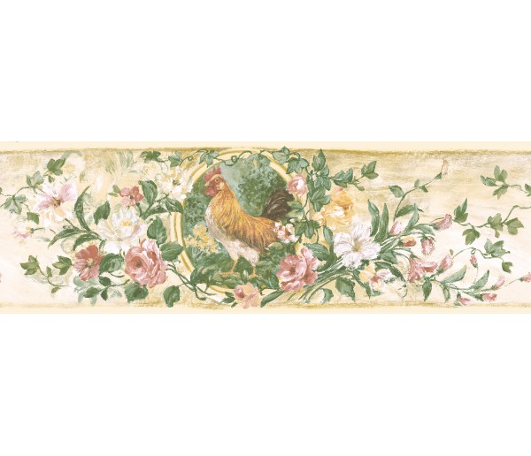 Garden Wallpaper Borders: Floral Wallpaper Border 84B73619