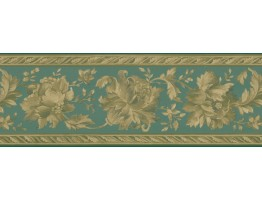 Prepasted Wallpaper Borders - Floral Wall Paper Border FDB05741
