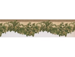5 in x 15 ft Prepasted Wallpaper Borders - Leafs Wall Paper Border MP060155