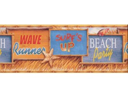 Prepasted Wallpaper Borders - Beach Wall Paper Border 4934 MP