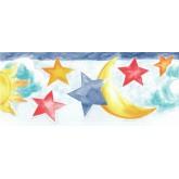 Sun Moon Stars Borders Sun, Moon and Stars Wallpaper Border NK74853DC York Wallcoverings