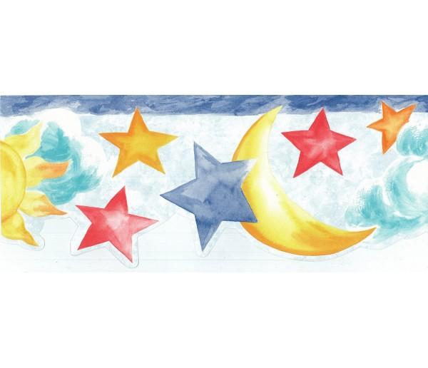 Sun Moon Stars Wall Borders Sun Moon And Stars
