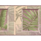 Garden Wallpaper Borders: Leaves Wallpaper Border NL57002B