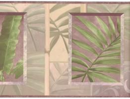 Prepasted Wallpaper Borders - Leaves Wall Paper Border NL57002B