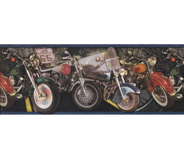 Boys Bikes Wallpaper Border 4012 OA