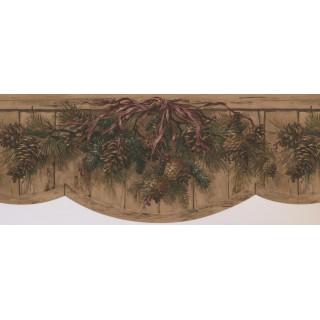 9 1/2 in x 15 ft Prepasted Wallpaper Borders - Garden Wall Paper Border 8003 OA
