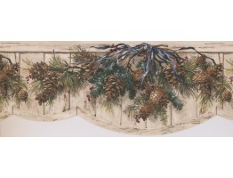 Prepasted Wallpaper Borders - Garden Wall Paper Border 8004 OA