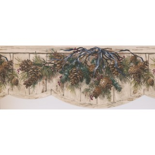8 3/4 in x 15 ft Prepasted Wallpaper Borders - Garden Wall Paper Border 8004 OA