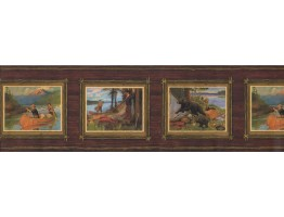 Prepasted Wallpaper Borders - Landscape Wall Paper Border 8073 OA