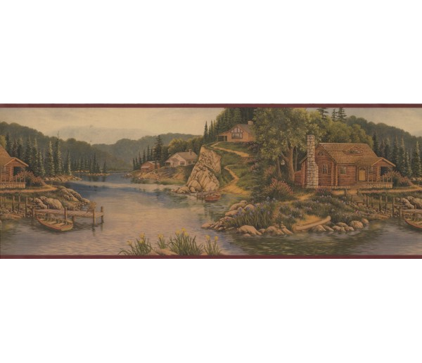 Landscape Landscape Wallpaper Border 8093 OA York Wallcoverings