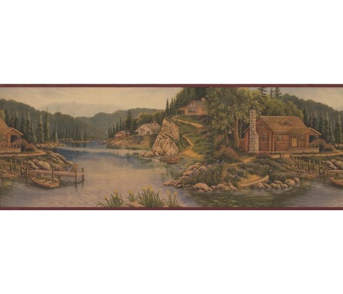 Landscape Wallpaper Borders: Landscape Wallpaper Border 8093 OA