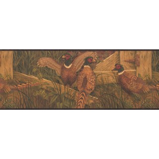 9 in x 15 ft Prepasted Wallpaper Borders - Birds Wall Paper Border 8103 OA