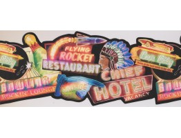9 1/2 in x 15 ft Prepasted Wallpaper Borders - Restaurant Wall Paper Border 8111 OA