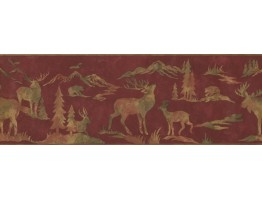 8 in x 15 ft Prepasted Wallpaper Borders - Animals Wall Paper Border 8151 OA