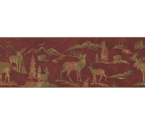 Jungle Animals Wallpaper Border 8151 OA York Wallcoverings