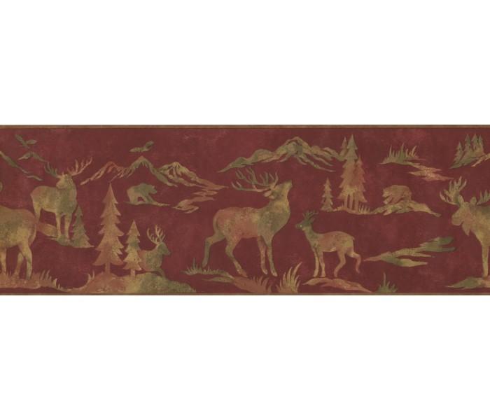 Deer Moose Wallpaper Borders: Animals Wallpaper Border 8151 OA
