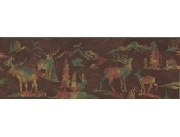 8.25 in x 15 ft Prepasted Wallpaper Borders - Animals Wall Paper Border 8152 OA