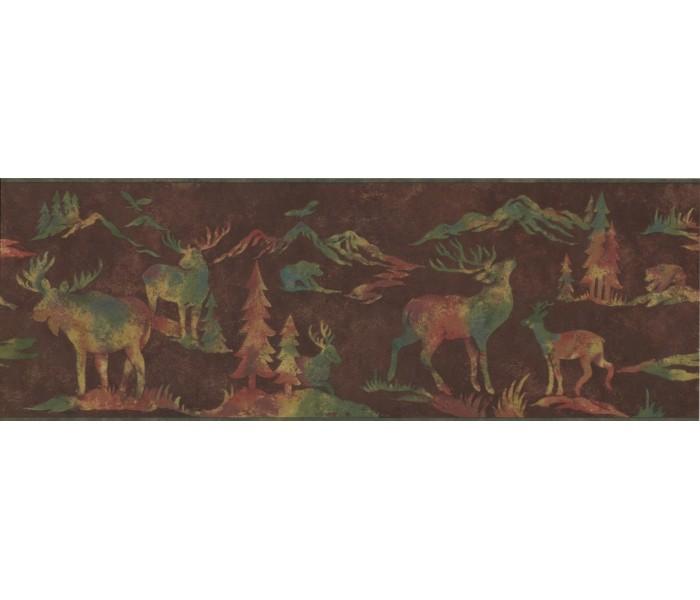 Deer Moose Wallpaper Borders: Animals Wallpaper Border 8152 OA