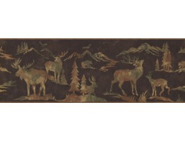 Prepasted Wallpaper Borders - Animals Wall Paper Border 8153 OA