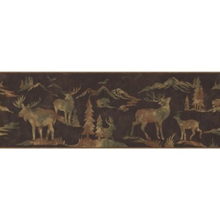 9 in x 15 ft Prepasted Wallpaper Borders - Animals Wall Paper Border 8153 OA