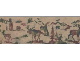 Prepasted Wallpaper Borders - Animals Wall Paper Border 8154 OA