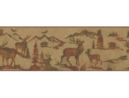 Prepasted Wallpaper Borders - Animals Wall Paper Border 8155 OA