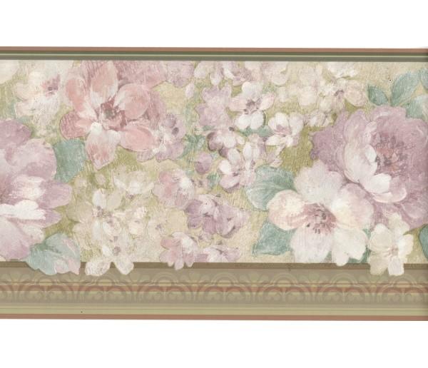 Floral Borders Flower Wallpaper Border ONB67098 Fine Art Decor Ltd.