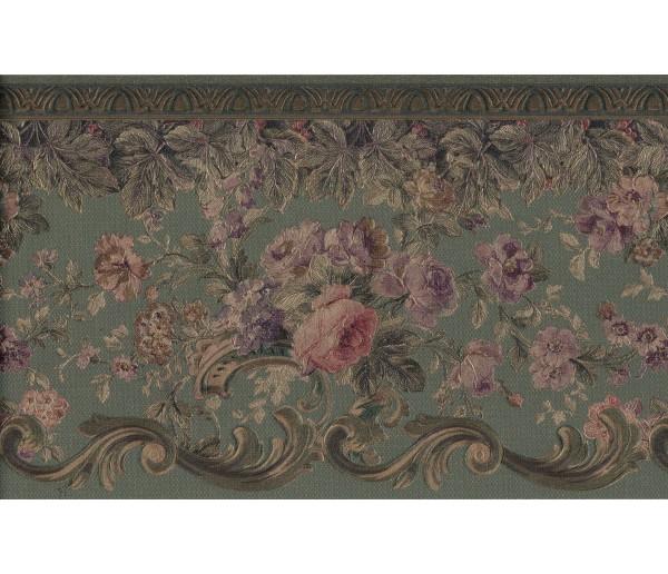 Prepasted Wallpaper Borders - Flower Wall Paper Border ONB87960