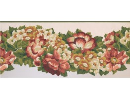 Prepasted Wallpaper Borders - Floral Wall Paper Border 1217 PZ