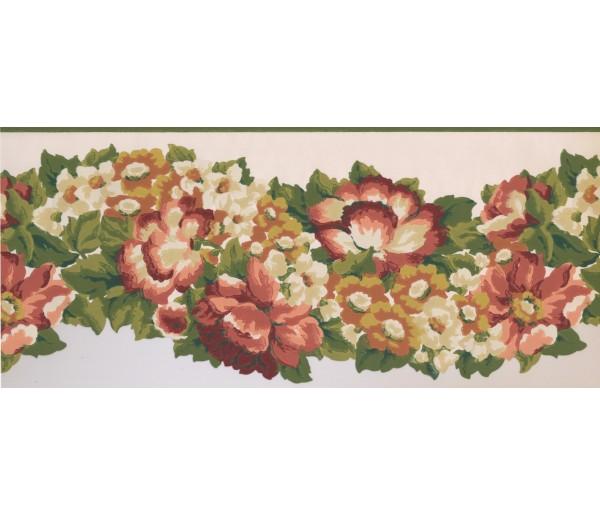 Floral Borders Floral Wallpaper Border 1217 PZ York Wallcoverings