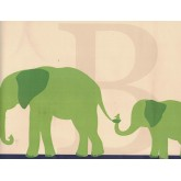 Animal Wallpaper Borders: Elephant Wallpaper Border RB92357B