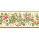 Garden Wallpaper Borders: Floral Wallpaper Border QT18134B
