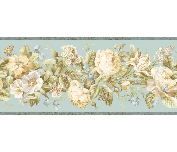 Garden Wallpaper Borders: Floral Wallpaper Border QT18135B