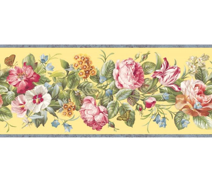 Garden Wallpaper Borders: Floral Wallpaper Border QT18136B