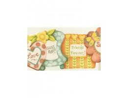 Prepasted Wallpaper Borders - RU8188B Friends Forever Wall Paper Border