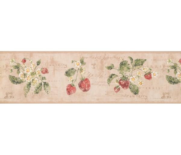 Garden Wallpaper Borders: Strawberry Wallpaper Border 3288 RY