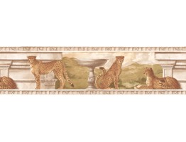Prepasted Wallpaper Borders - Cheetah Wall Paper Border S5346B