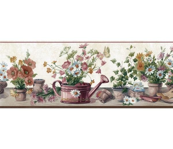 Clearance Garden Wallpaper Border SA105592 York Wallcoverings