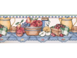 Prepasted Wallpaper Borders - Kitchen Wall Paper Border 3013 SC