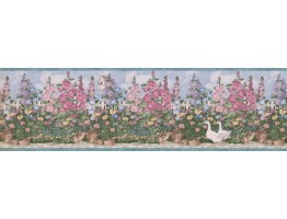 7 in x 15 ft Prepasted Wallpaper Borders - Garden Wall Paper Border 5236 SMB