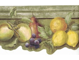 Prepasted Wallpaper Borders - Fruits Wall Paper Border ST50554B