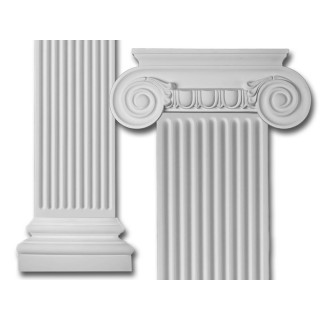 Scroll Flat Column Set Made from Dense Architectural Polyurethane Compound