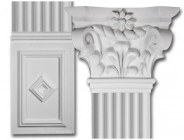 Scroll Top Flat Column Set Made from Dense Architectural Polyurethane Compound