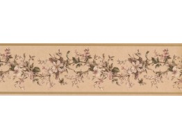 Prepasted Wallpaper Borders - Floral Wall Paper Border VC052231