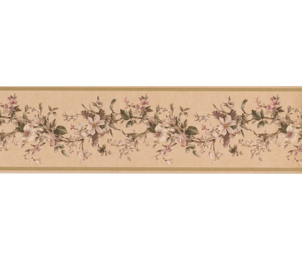 Floral Borders Floral Wallpaper Border VC052231 York Wallcoverings