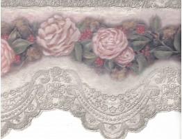 Flower Wallpaper Border VIN7319DB